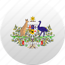 australia, australian, country, state, state emblem icon