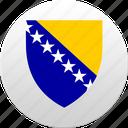 bosnia, country, herzegovina, state, state emblem icon