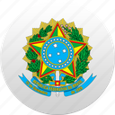 brazil, brazilian, country, state, state emblem icon