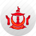 brunei, country, state, state emblem icon
