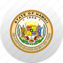 country, hawaiian islands, state, state emblem icon