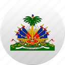 country, haiti, state, state emblem icon