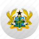 country, ghana, state, state emblem icon