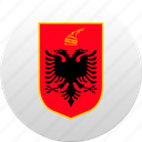 albania, albanian, country, state, state emblem icon