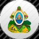 country, honduran, honduras, state, state emblem icon
