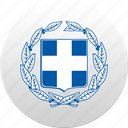 country, greece, state, state emblem icon
