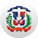 country, dominican, dominican republic, state, state emblem icon