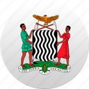 country, state, state emblem, zambia icon