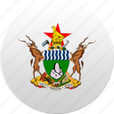 country, state, state emblem, zimbabwe icon