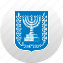 country, israel, state, state emblem icon