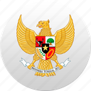 country, indonesia, state, state emblem icon