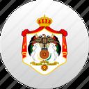 country, state, jordanian, jordan, state emblem, jordania