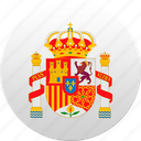country, spain, state, state emblem icon