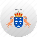 canary islands, country, state, state emblem icon