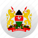country, kenya, state, state emblem