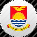 country, kiribati, state, state emblem icon