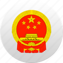 china, country, state, state emblem icon