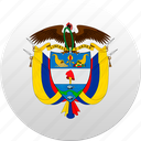 colombia, columbia, country, state, state emblem icon