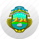 costa rica, country, state, state emblem