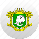 country, côte d'ivoire, state, state emblem icon