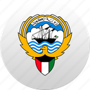 country, kuwait, state, state emblem