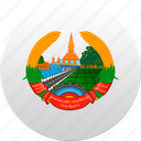 country, laos, state, state emblem icon