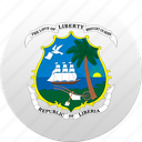 country, liberia, liberian, state, state emblem icon