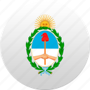 argentina, country, state, state emblem icon