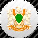country, lebanon, libya, libyan, state, state emblem icon