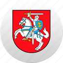 country, lithuania, lithuanian, state, state emblem icon