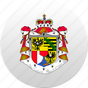country, liechtenstein, state, state emblem icon