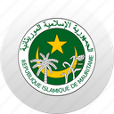 country, mauritania, state, state emblem icon