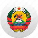 country, mozambique, state, state emblem icon