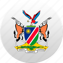 country, namibia, state, state emblem icon