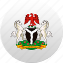 country, nigeria, state, state emblem icon