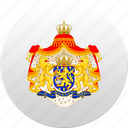 country, holland, netherland, netherlands, state, state emblem icon
