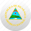 country, nicaragua, state, state emblem icon