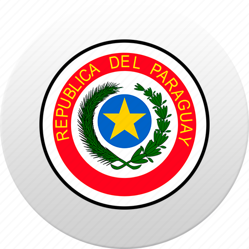 country, paraguay, paraguayan, state, state emblem icon
