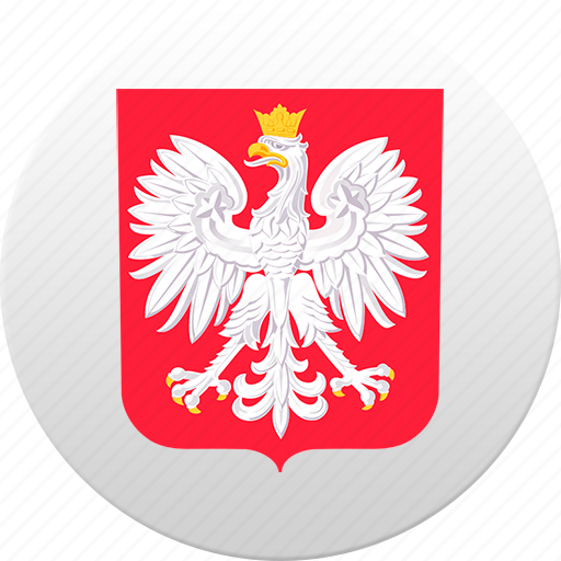 country, poland, state, state emblem icon