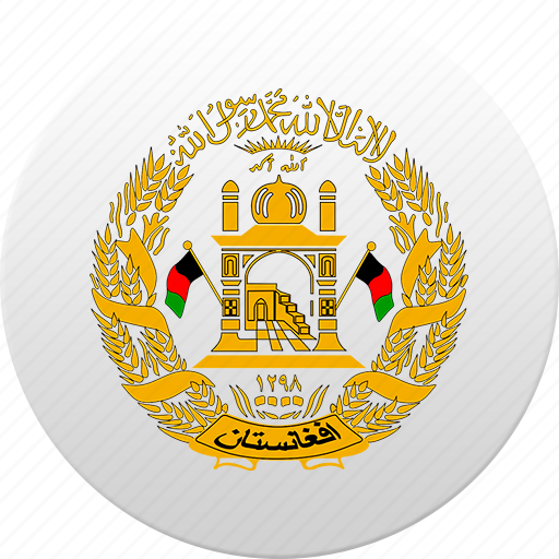 afghan, afghanistan, country, state, state emblem icon