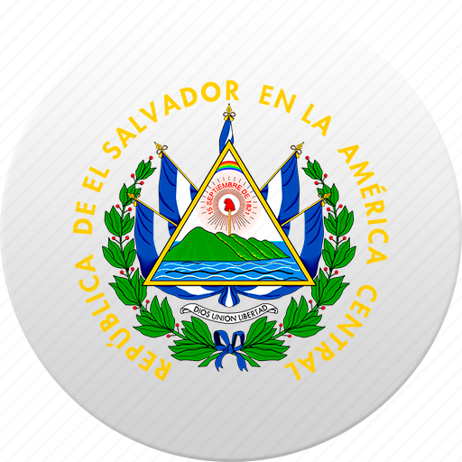 country, salvador, state, state emblem icon
