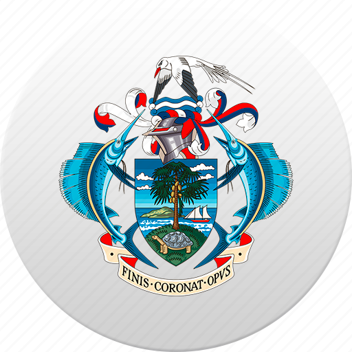 country, seychelles, state, state emblem icon
