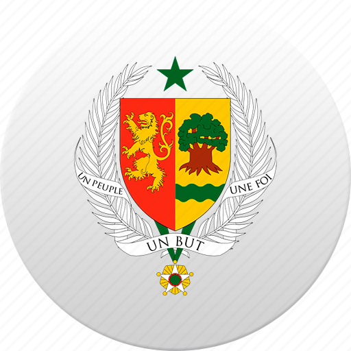 country, senegal, state, state emblem icon