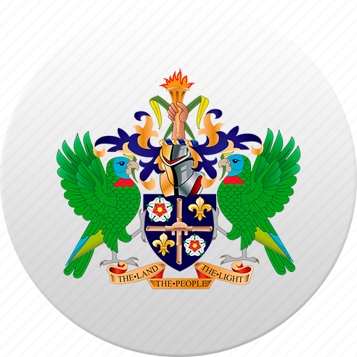 country, saint lucia, state, state emblem icon