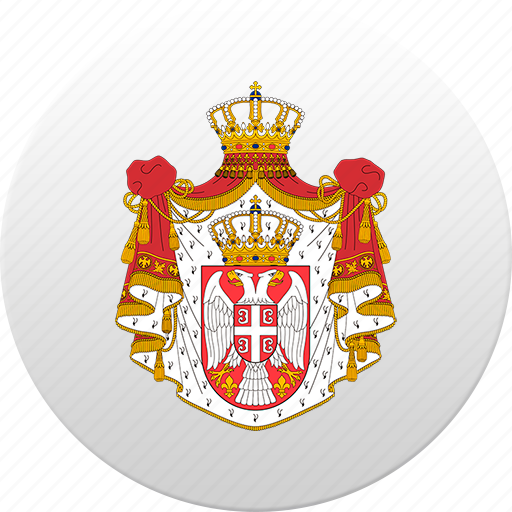 country, serbia, serbian, state, state emblem icon