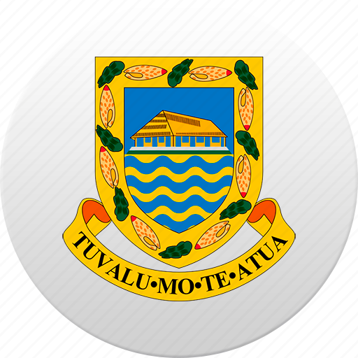 country, state, state emblem, tuvalu icon