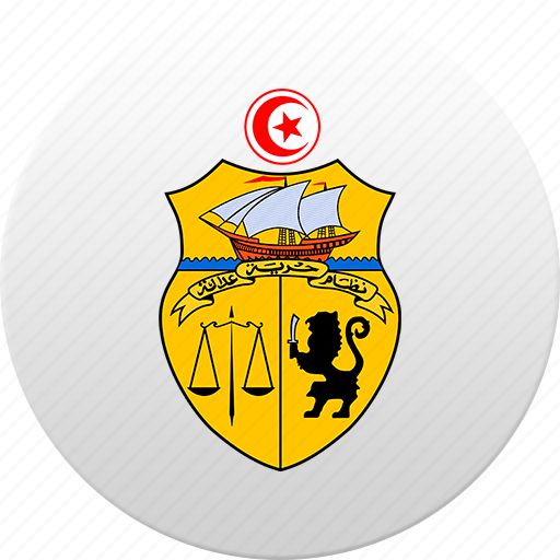 country, state, state emblem, tunis, tunisia, tunisian icon
