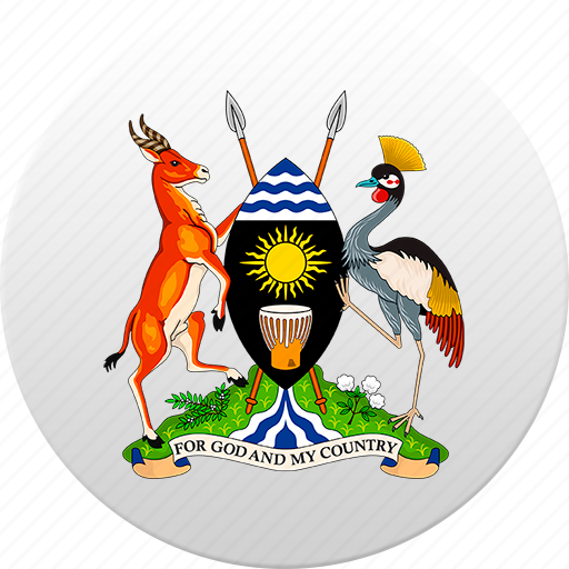 country, state, state emblem, uganda icon