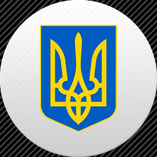 country, state, state emblem, ukraine, ukrainian icon