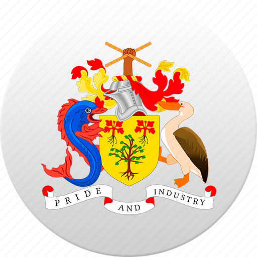 barbados, country, state, state emblem icon